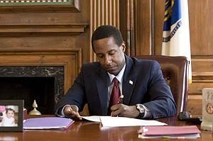 Setti Warren - Warren at his desk in April 2011.