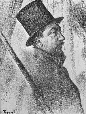 Paul Signac - Georges Seurat Portrait of Paul Signac, 1890, conté crayon, private collection