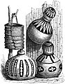 Seven Years in South Africa, page 308, bar basket and calabashes for holding corn used by the Mabundas.jpg