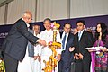Sharad Pawar lighting the lamp at the inauguration of the National Institute of Food Technology Entrepreneurship and Management.jpg