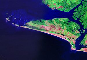 Sherbro Island - Natural Color Landsat image of Sherbro Island, Sierra Leone. In the west, the Turtle Islands can be seen.