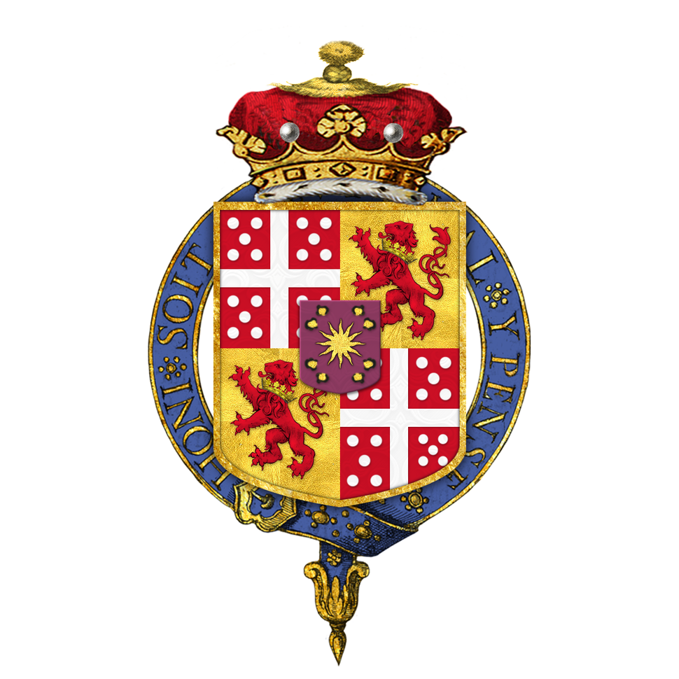 Shield of arms of Richard Wellesley, 1st Marquess Wellesley, KG, PC