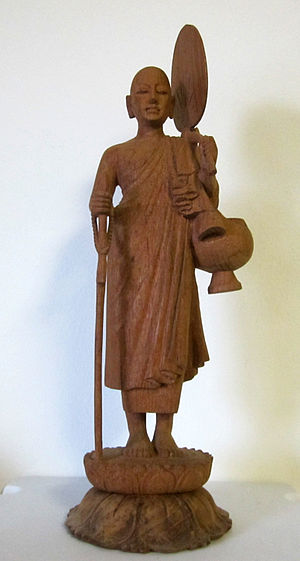 Sīvali - A wooden carving of Shin Thiwali.