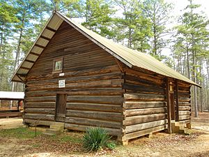 Cleburne County, Alabama - Shoal Creek Church is a historic church located in Cleburne County just north of Edwardsville, Alabama in Talladega National Forest.  The church was built in 1895 and added to the National Register of Historic Places on December 4, 1974