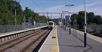 Shoeburyness railway station - Image: Shoeburyness railway station MMB 03 357028