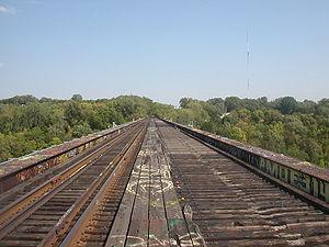 Short Line Bridge - Top of the deck, 2005