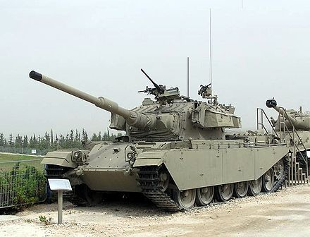 An Israeli Centurion tank. It was considered in many respects superior to the Soviet T-54/55. Shot Kal-.jpg