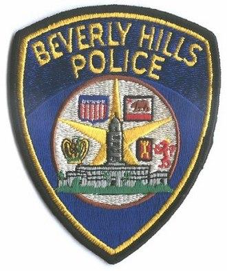 Beverly Hills Police Department - Image: Shoulder patch of the Beverly Hills Police Department