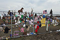 Shown here May 28, 2013, is the memorial fence the Plaza Towers Elementary School in Moore, Okla., where seven students were killed during a tornado May 20, 2013 130528-Z-VF620-683.jpg