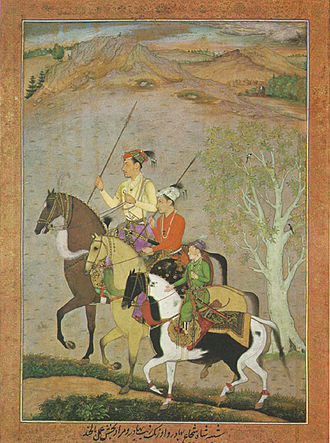 Aurangzeb - A painting from circa 1637 shows the brothers (left to right) Shah Shuja, Aurangzeb and Murad Baksh in their younger years.