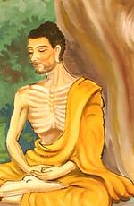 رسم لسيدهارتا غوتاما بوذا في حالة التأمل
