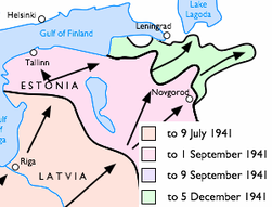 Siege of Leningrad Eastern Front 1941 06 to 1941 12.png