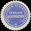 Siegelmarke Gemeinde Ackenhausen H. Braunschweig W0382796.jpg