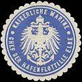Siegelmarke K. Marine Chef der Hafenflottille Elbe W0337640.jpg