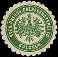 Siegelmarke Koeniglich Preussische Oberförsterei zu Golchen W0240035.jpg