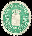 Siegelmarke Militär - Gouverneur der Prinzen - Söhne Seiner Königlichen Hoheit des Kronprinzen von Sachsen W0205333.jpg
