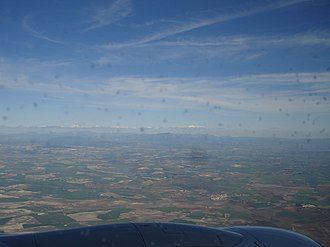 Sierra de Cádiz - Sierra de Cádiz while landing in Jerez airport.