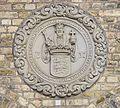 Sigillum universitatis hafniensis a Christiano 3 rege instauratae 1537 Krystalgade Copenhagen Denmark.jpg