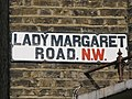 Sign for Lady Margaret Road, NW(5) - geograph.org.uk - 1440083.jpg