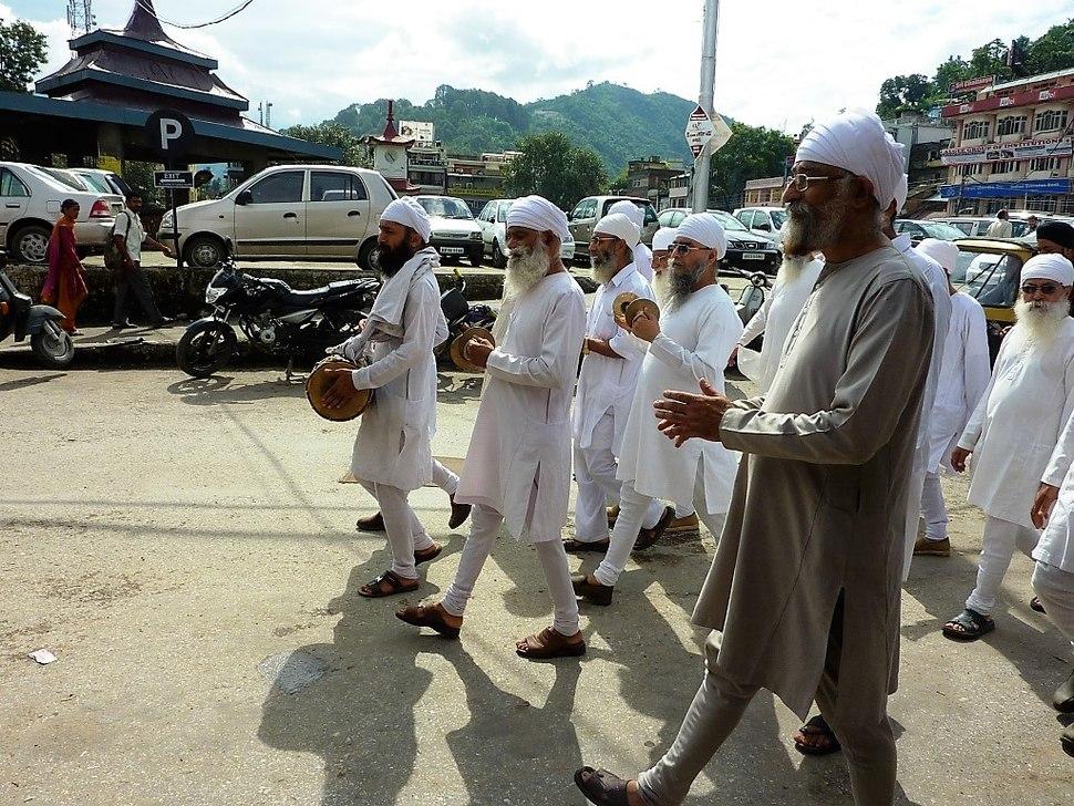Sikh funeral procession. Mandi, Himachel Pradesh
