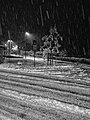 Sinigo under the snow in South Tyrol Italy Photo by Giovanni Ussi Bnw by night (14).jpg