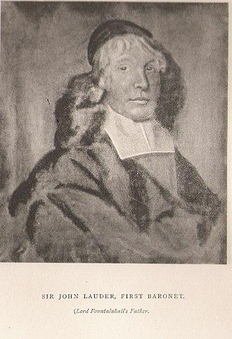 Sir John Lauder, 1st Baronet - Sir John Lauder, 1st Bt