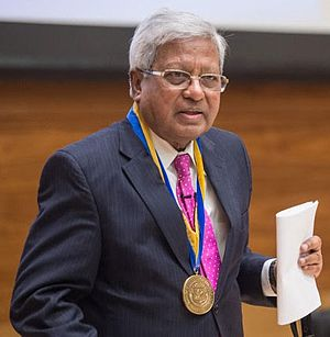 Fazle Hasan Abed - Fazle Hasan Abed receiving the Thomas Francis Jr Medal in Global Public Health award from the University of Michigan (April 2016)