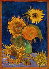 Still Life: Vase with Five Sunflowers