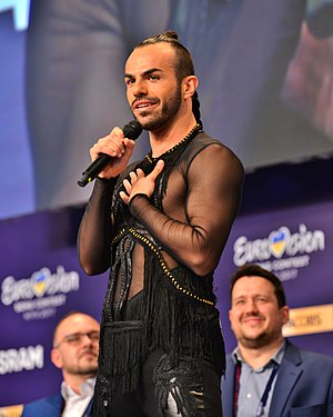 Montenegro in the Eurovision Song Contest 2017 - Slavko Kalezić during a press meet and greet