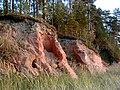 Smilšakmens atsegumi jūrmalā Oltužu apkārtnē 2000-10-07.jpg