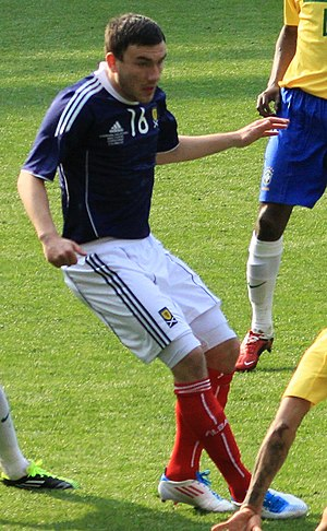 Robert Snodgrass - Snodgrass playing for Scotland in 2011