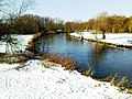 Snow on River Great Ouse, Feb 2009 - upstream.JPG