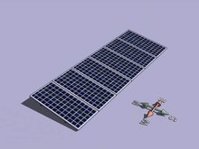 File:Solar tracker upon X axis - front view.ogv