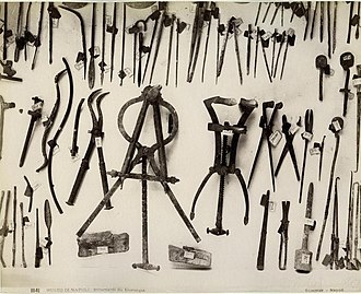 Medicine in ancient Rome - Roman surgical instruments found at Pompeii.