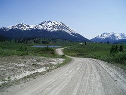 Typisch berglandschap in Yukon Territory