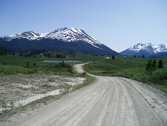Canol Road - South Canol Road near the headwaters of the Rose River