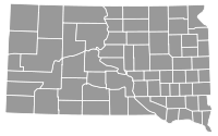 South Dakota Gubernatorial Election Results by County, 2010.svg