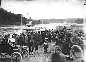 South Fort George - The sternwheeler landing at South Fort George (1913)