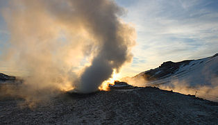 South through the steam of a fumarole, Hverir.jpg