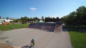 File:Sportpark Ljubljana - Skateboard and Basketball Aerials by Yuneec Typhoon Q500 4k.webm