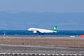 Spring Airlines ,9C8589 ,Airbus A320-214 ,B-6863 ,Arrived from Shanghai ,Kansai Airport (16475087120).jpg
