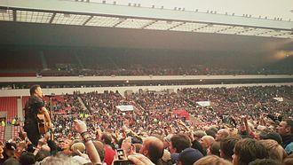 Wrecking Ball World Tour - Springsteen playing at the Stadium of Light, Sunderland, UK, 21 June 2012