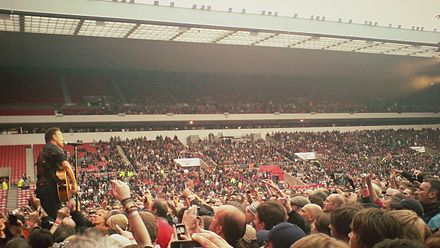 Springsteen playing at the Stadium of Light, Sunderland, UK, in 2012 Springsteen playing in Sunderland, June 2012.jpg
