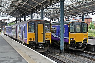 Chester railway station - Northern Rail Sprinters at Chester
