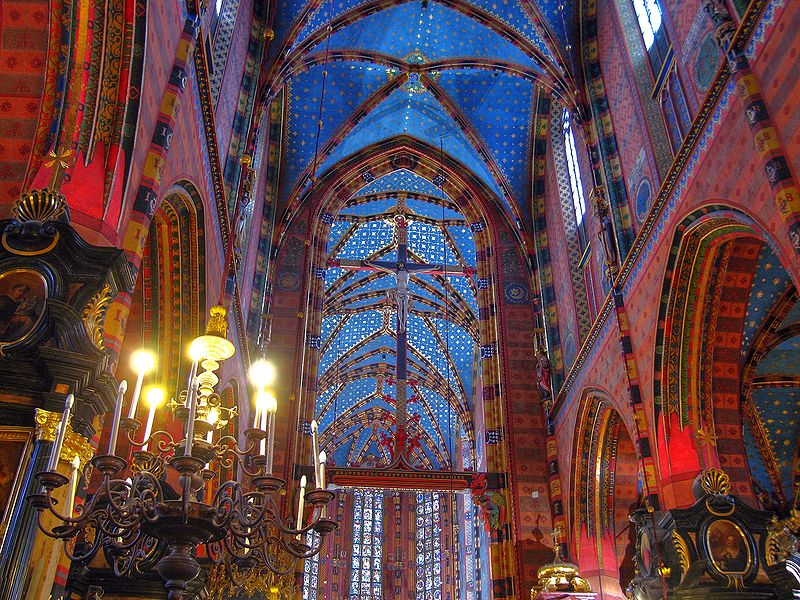 File:St. Mary's Basilica Cracow interior.jpg
