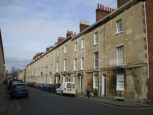 St John Street, Oxford - Looking north along St John Street