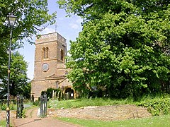 St Andrews Church Tower, Great Billing - geograph.org.uk - 174025.jpg