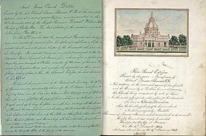 Delhi Book - Image: St Jame's Church, Delhi, folio from book by Thomas Metcalfe, 1843