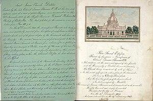 Delhi Book - Image: St Jame's Church, Delhi, folio from book by Thomas Metcalfe, 1843