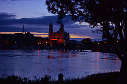 The River Shannon and the Church of Saints Peter and Paul.